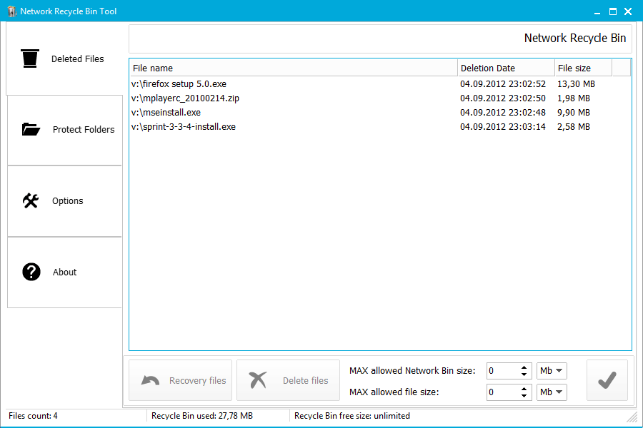 Network Recycle Bin Tool 5.2.7.7